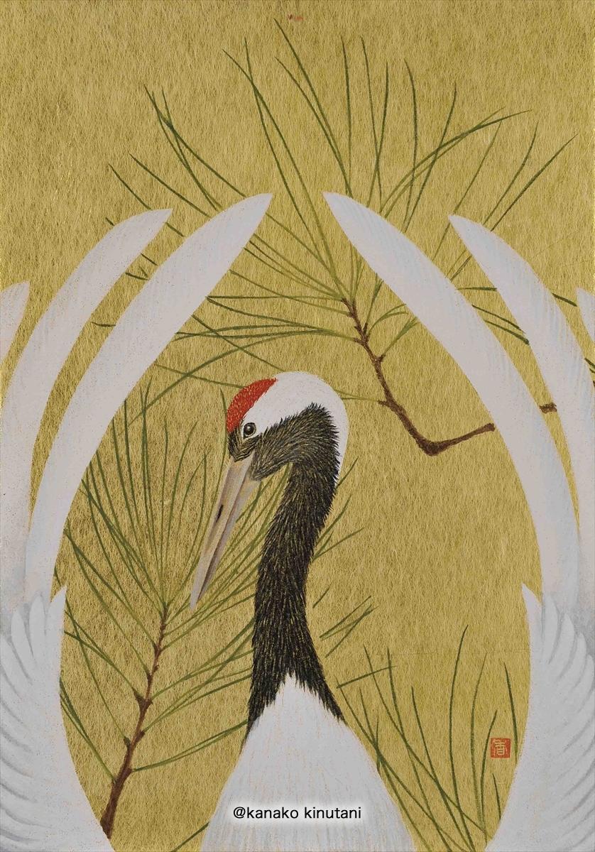 Hanafuda - Pine with crane-