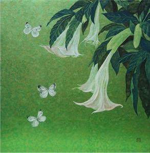 蝶とエンジェルラッパ