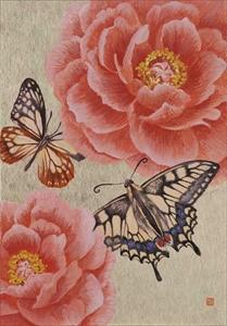 Hanafuda 牡丹に蝶