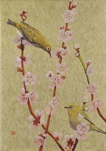 Hanafuda 梅に鶯