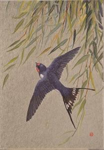 Hanafuda 柳に燕