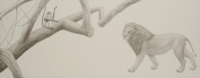 Toward the tree