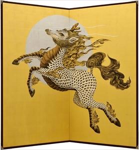 黄金の月夜に舞う麒麟
